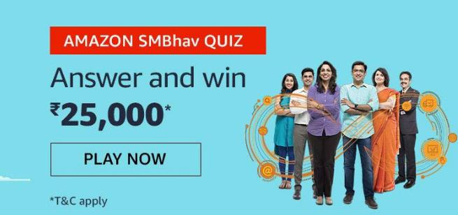 Amazon SMbhav Quiz Answers Today