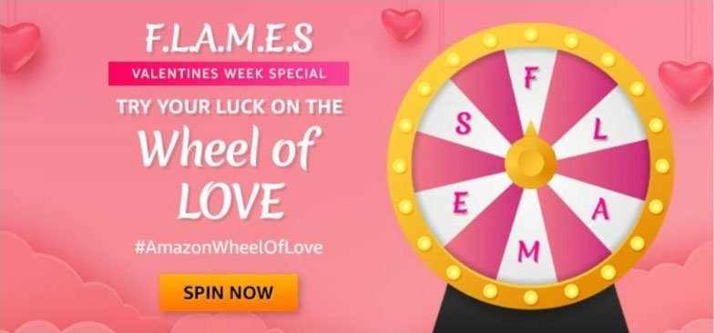 Amazon Wheel Of Love Quiz Answers - Play & Win Exciting Prizes